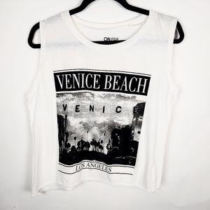 On Fire Venice Beach Sleeveless Crop Top, L